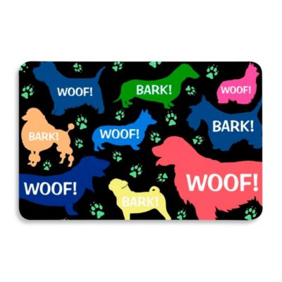 Bungalow Flooring 18-Inch x 27-Inch Dog Bark Kitchen Mat