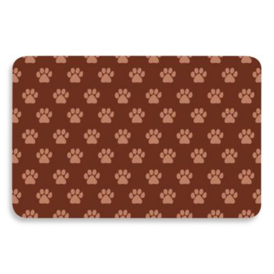 Bungalow Flooring 18-Inch x 27-Inch Paw Print Kitchen Mat in Khaki