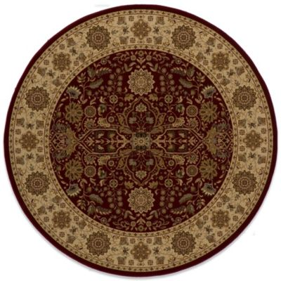 Momeni Royal 7-Foot 10-Inch Round RY-03 Rug in Red