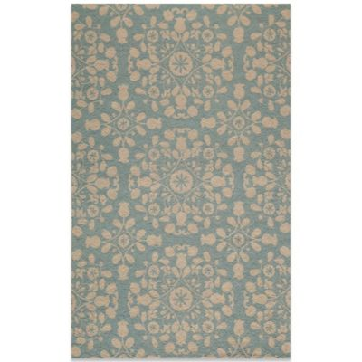 Momeni Suzani 2-Foot x 3-Foot Hook Rug in Blue