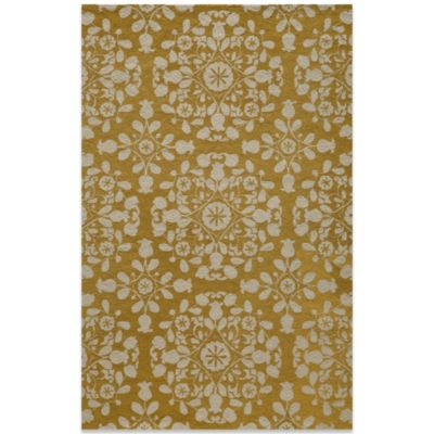 Momeni Suzani 2-Foot x 3-Foot Hook Rug in Gold