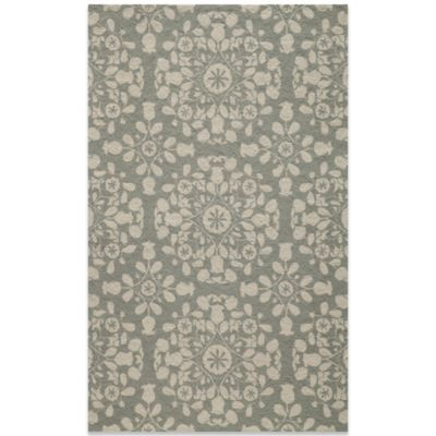 Momeni Suzani 2-Foot x 3-Foot Hook Rug in Grey