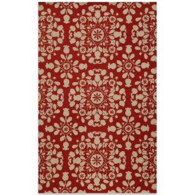 Momeni Suzani 2-Foot x 3-Foot Hook Rug in Red