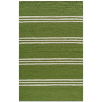 Momeni Veranda 9-Foot Round Rug in Lime