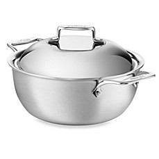 All-Clad d5 Brushed Stainless Steel 5.5-Quart Covered Dutch Oven