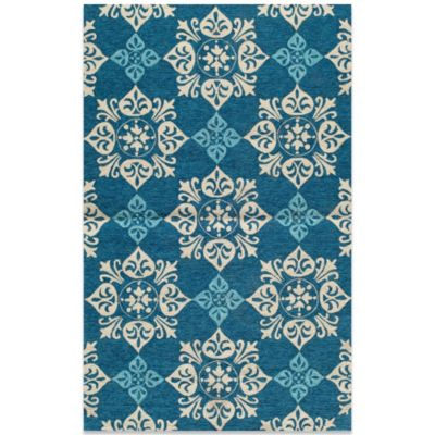 Momeni Veranda 9-Foot Round Rug in Blue