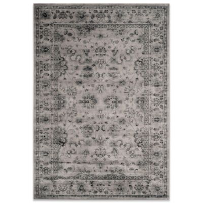 Safavieh Vintage 9-Foot x 12-Foot Rug in Grey/Ivory