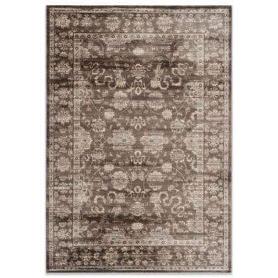 Safavieh Vintage 9-Foot x 12-Foot Rug in Brown/Ivory