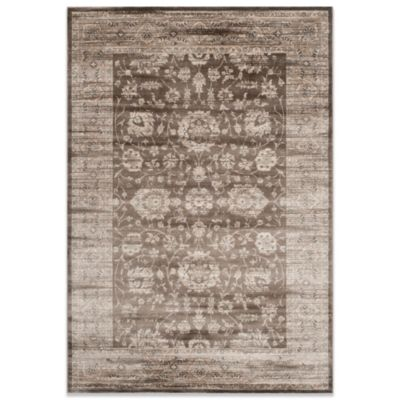 Safavieh Vintage Khyber 6-Foot 7-Inch x 9-Foot 2-Inch Rug in Brown/Ivory