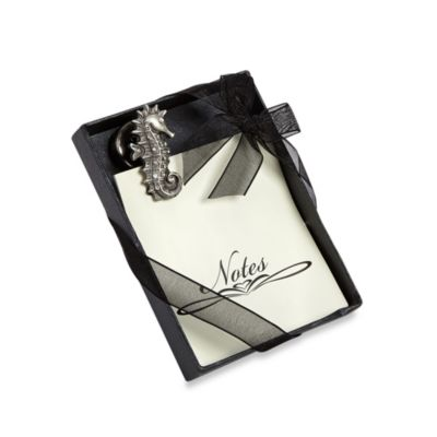 All For Giving Seahorse Memo Pad with Magnetic Clip