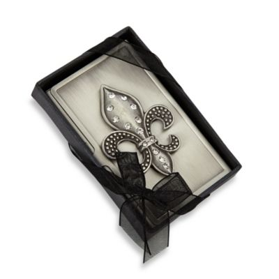 All For Giving Fleur De Lis Business Card Carrying Case