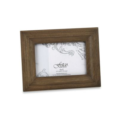 Fetco Home Decor™ Hartley Vintage Oak 6-Inch x 4-Inch Photo Frame