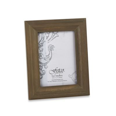 Fetco Home Decor™ Hartley Vintage Oak 5-Inch x 7-Inch Photo Frame
