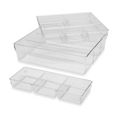 3-Piece Clear Organizer Set