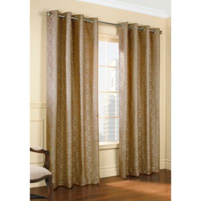 Commonwealth Home Fashions Thermalogic® Anna ThermaLace Grommet 95-Inch Window Panel in Beige