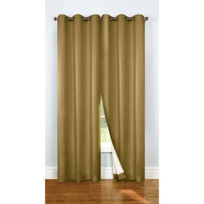Thermalogic® Four Seasons Thermalock Grommet 84-Inch Window Panels in Mushroom