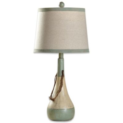 Bouy Coastal Lamp Base with Fabric Shade