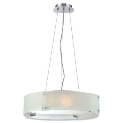 Lite Source Kaelin 3-Light Pendant in Chrome