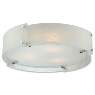Lite Source Kaelin Flush Mount Three Light Ceiling Light