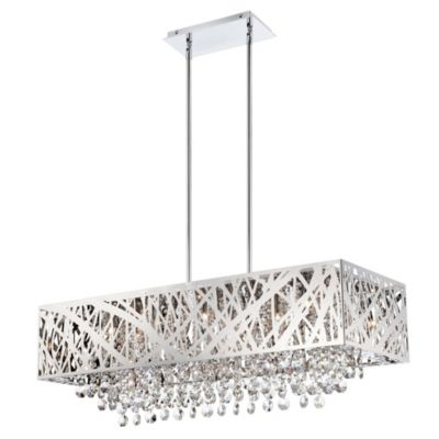 Lite Source Benedetta 10-Light Crystal Pendant in Chrome