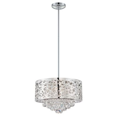 Lite Source Benedetta 4-Light Crystal Pendant in Chrome