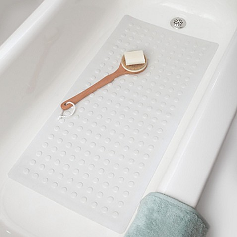 Microban 174 Large Rubber Safety Tub Mat In White Bed Bath