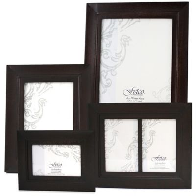 Fetco Home Decor™ Rowe 4-Inch x 6-Inch Photo Frame in Onyx