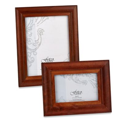Fetco Home Decor™ Riverside Two-Tone 4-Inch x 6-Inch Photo Frame in Walnut