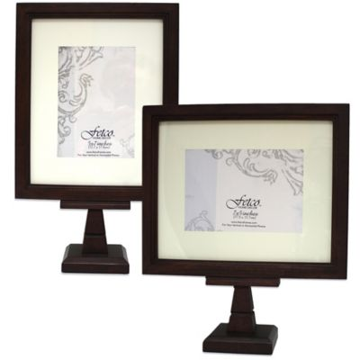 Fetco Home Decor™ Matted 7-Inch x 5-Inch Pedestal Frame in Espresso