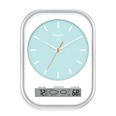 Atomic Analog Wall Clock with Weather Readout