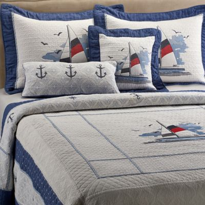 Blue Sailboat Quilt