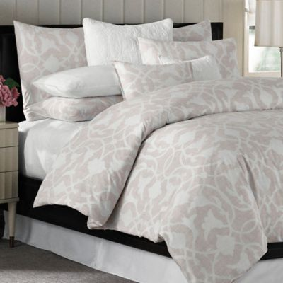 Barbara Barry® Poetical King Duvet Cover in Pink Blush