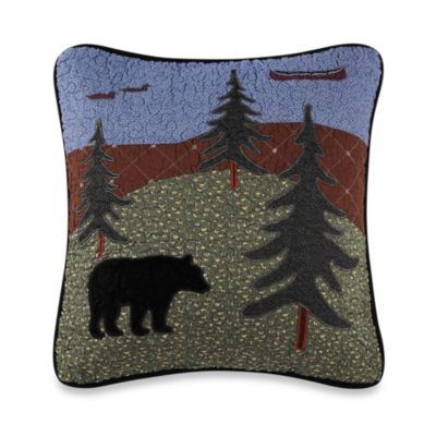 Bear Lake Square Throw Pillow