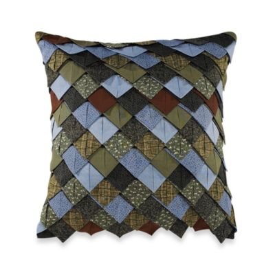 Donna Sharp Bear Lake Roof Tile Square Throw Pillow