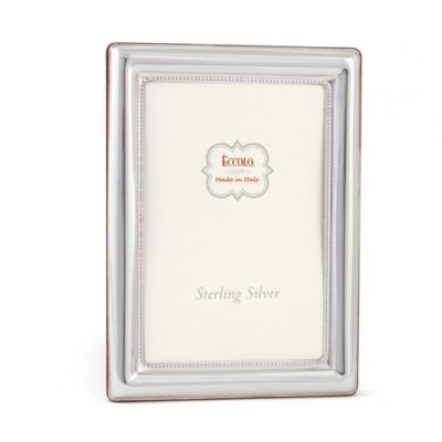 Eccolo™ Inside Edge Beaded 4-Inch x 6-Inch Sterling Silver Frame