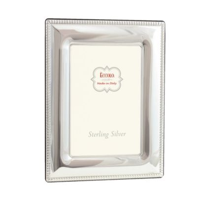 Eccolo™ Smooth 4-Inch x 6-Inch Sterling Silver Frame with Beading