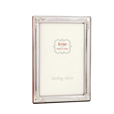 Eccolo™ Flowered Corners 8-Inch x 10-Inch Sterling Silver Frame