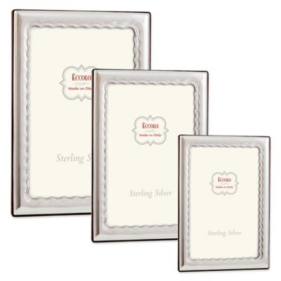 Eccolo™ Wavy 5-Inch x 7-Inch Sterling Silver Picture Frame
