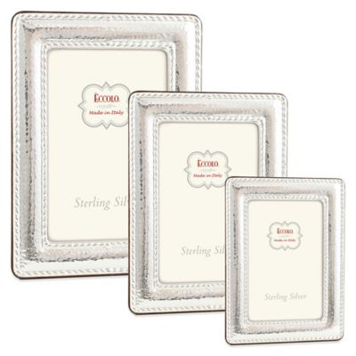 Eccolo™ Hammered Double Braid 4-Inch x 6-Inch Sterling Silver Picture Frame
