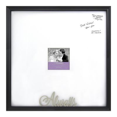 "Clove ""Always"" 20-Inch x 20-Inch/5-Inch x 5-Inch Signature Frame in Black"