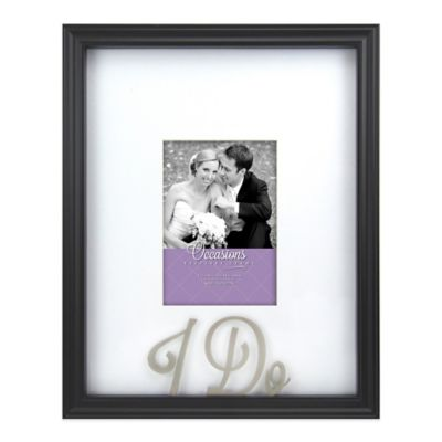 Occasions I Do 5-Inch x 7-Inch Picture Frame in Black