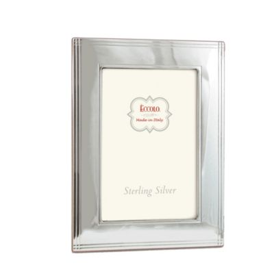Eccolo™ Sterling Silver 8-Inch x 10-Inch Picture Frame with Chased Border