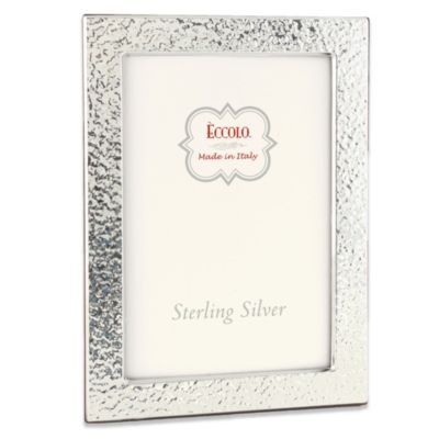 Eccolo™ Barcelona 4-Inch x 6-Inch Sterling Silver Frame