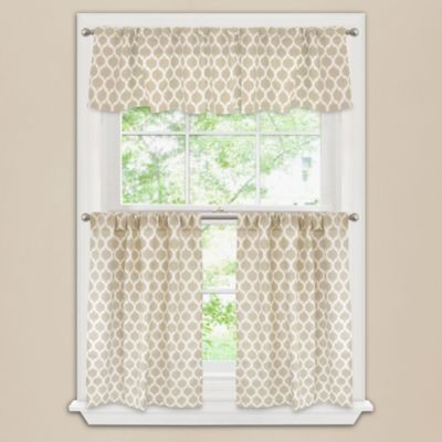 Morocco 24-Inch Window Curtain Tier Pair in Taupe