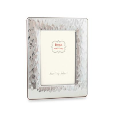 Eccolo™ Giant Hammered 8-Inch x 10-Inch Sterling Silver Picture Frame