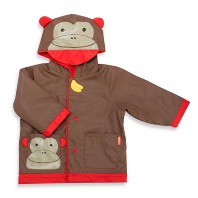 SKIP*HOP® Size Small 2T Monkey Raincoat in Brown