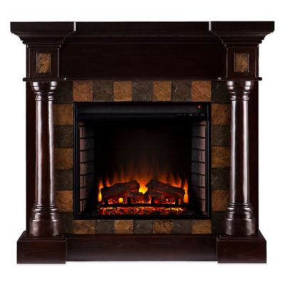 Carrington Convertible Electric Fireplace in Espresso