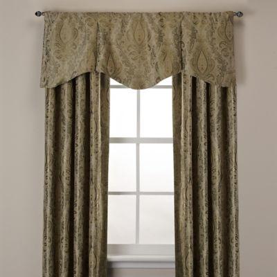 Venezia Scalloped Window Curtain Valance in Neutral