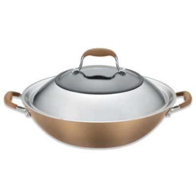 Anolon® Advanced Bronze Hard Anodized Nonstick 14-Inch Covered Wok