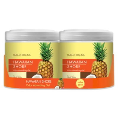 SMELLS BEGONE® Hawaiian Shore 15 oz. Odor Absorbing Gel Jars (Set of 2)